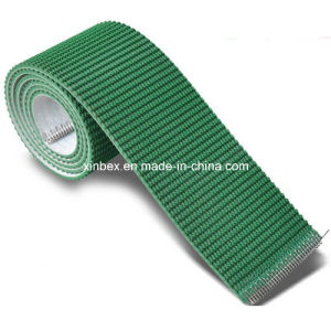 PVC Dark Green/Black Rough Top Pattern Incline Conveyor Belts pictures & photos