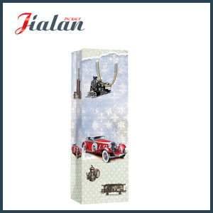 Retro Car & Architecture Style Bottle Shopping Carrier Gift Paper Bag pictures & photos