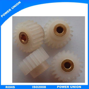 Nylon-12 Plastic Cylindrical Spur Gear with Brass Insert pictures & photos