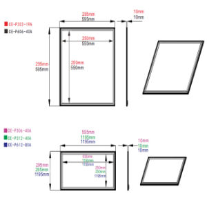 40W 60cmx60cm 10mm Thick Square Panel pictures & photos