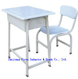 High Quality Werzalit Single School Desk and Chair (JH-8501)