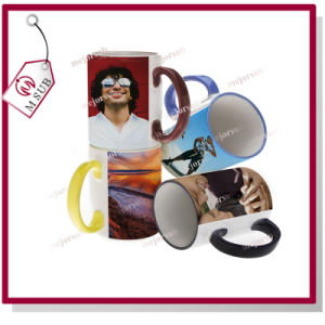 11oz Colored Rim and Handle Mug with Sublimation Coatings pictures & photos