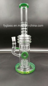 Heavy Glass Water Pipe Smoking Pipe with Ring Perc 1.1kg pictures & photos