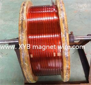 Thin Single Class Covered and Polyimide Film Wrapped Rectangular Copper Wire pictures & photos
