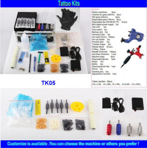 Wholesale Brand Quality Cheap Tattoo Kit with 2 Gun Tk05 pictures & photos