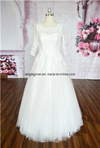 Young Girl Bridal Gown Dress Ivory A-Line Bridal Dresses pictures & photos
