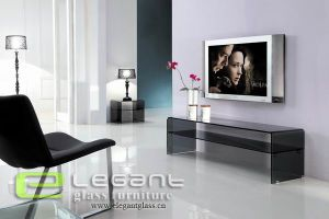 12mm Hot-Bending Glass TV Stand of Modern Style pictures & photos