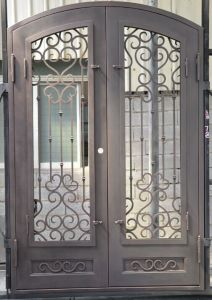 Wrought Iron Double Entry Door pictures & photos