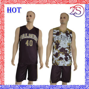 Customize High Quality Reversible Sublimation Basketball Uniforms New Design for 2016 pictures & photos