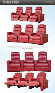 Red Stadium Seats Steel Frame (T016-S) pictures & photos