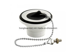 "Hl-1115 1.1/4"" White PP Sink Waste, Plug and Chain pictures & photos"