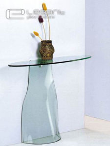 Elegant Hot Bending Glass Console Table/Glass Furniture pictures & photos