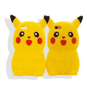 Cartoon 3D Pikachu Cute Silicone Back Cover Case for iPhone 7 7plus Samsung J7prime J5 Prime (XSDW-0220)