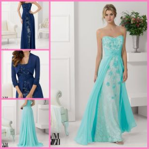 Sheath Lace Party Cocktail Formal Gown Lace Chiffon Bridesmaid Dresses Z5079 pictures & photos