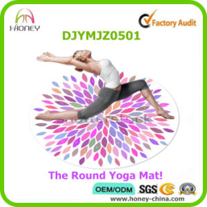 Customized Full Color Digital Printed Round Yoga Mat pictures & photos