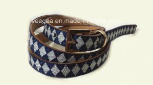 New Fashion Belt Print Fabric Belt Pin Buckle PU Belt