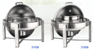 Round Roll-Top Chafing Dish with Food Pan/ Bain Marie (31036/31836) pictures & photos
