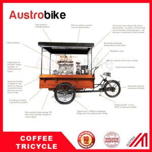 Fast Food Tricycle Coffee Vending Cart Coffee Bike 4 Wheel Coffee Bike pictures & photos