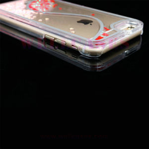 S Shape 2-Color Liquid Quicksand Mobile Phone Case for iPhone5/6/6plus pictures & photos