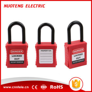 38mm Nylon Shackle Safety Lockout Padlock with Keyed Alike pictures & photos
