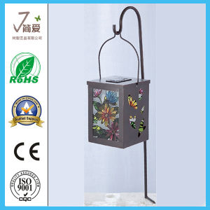 Metal Casting Craft with Solar Lantern for Garden Decoration pictures & photos