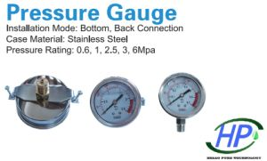 Panel Type Pressure Meter for Industrial RO Water Treatment pictures & photos