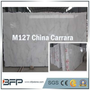 Chinese Polished Carrara White Marble Slabs/ Tiles Building Materials pictures & photos