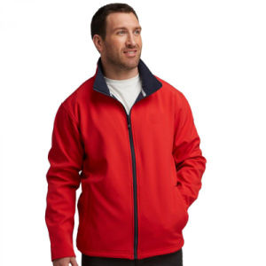 2016 OEM Men Softshell Jacket in Red Colour pictures & photos