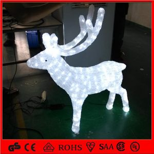 2.5m LED Decoration Acrylic White Reindeer Christmas Manufacturer Light pictures & photos