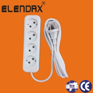 EU Plug Socket 2, 3, 4, 5 Way with Cable (E8002) pictures & photos