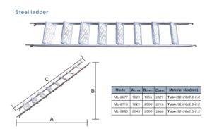 HDG Construction Ladder Steel Movable Ladder Steel Step Ladder pictures & photos