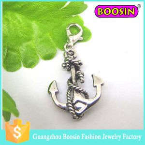 Fashion Custom Shoelace Jewelry Silver Nautical Ship Wheel Anchor Charm pictures & photos