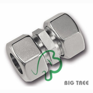 Straight Coupling Stainless Steel Tube Compression Fitting pictures & photos