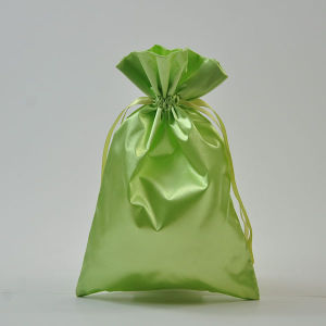New Product Satin Gift Promotion Drawstring Bag for Wedding