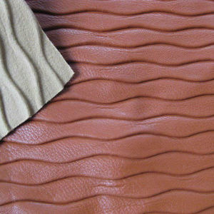 Wavy Grain Synthetic Leather 8040 pictures & photos