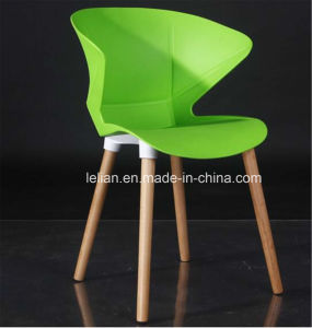 Modern Wood Structure Stacking Gossip Plastic Cafe Chair pictures & photos