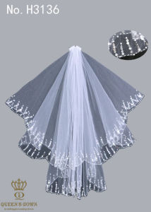 The New Hand-Beaded Bride Wedding Dress Veil pictures & photos