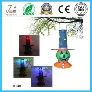 Horror Snowman Iron Garden Decoration with Solar Light pictures & photos