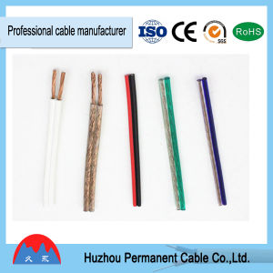 1.5mm2 Transparent Speaker Cable, Red and Black Parallel Electrical Wire pictures & photos