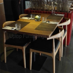 Uptop Cast Iron Base 80*80 Square Solid Wood Restaurant Table (sp-CS339) pictures & photos