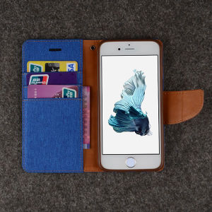 Leather Wallet Case Card ID Holder for iPhone 6 Plus pictures & photos