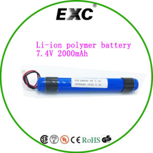 Battery Factory 2p 18650 7.4V 2000mAh Lithium Battery pictures & photos