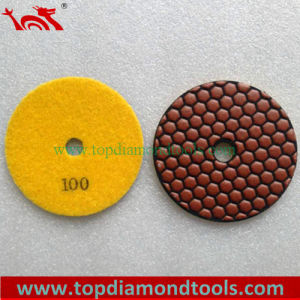 Velcro Back Diamond Flexible Dry Polishing Pads pictures & photos