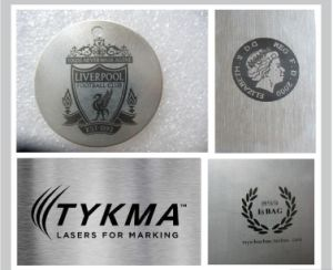 Machine Parts Laser Marking Machine/Tools Logo Black Color Laser Marking Machine pictures & photos