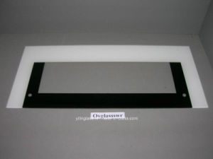 Super White Oven Door Glass with White Black Silkscreen pictures & photos