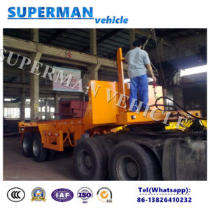 Two Axle 20ft Skeleton Container Dumper Semi Truck Trailer/Tipper Trailer pictures & photos