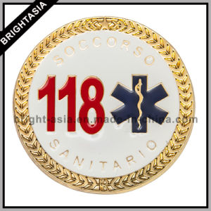 OEM Soft Enamel Gold Plating Challenge Coin for Souvenir (BYH10814) pictures & photos
