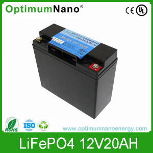 High Safety 12V 20ah LiFePO4 Battery for Solar Light pictures & photos