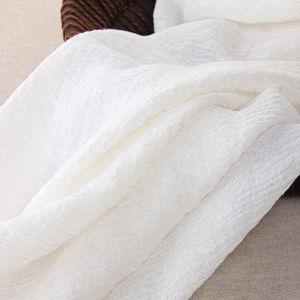 Soft Linen Fabric Gauze Creases Fold Linen Fabric pictures & photos