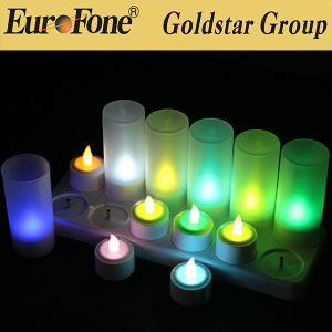 LED Nice Color Candle with 12 Plastic Cup pictures & photos